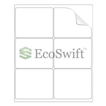 6000 4 x 3 1 3 laser ink address shipping self adhesive labels 6 per