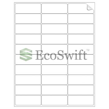 30000 2 625 x 1 laser address shipping adhesive labels 30 per sheet