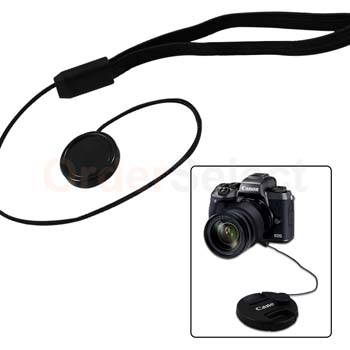 Sony 43.5mm Canon 2 Snap-on Lens Covers for DSLR Cameras including Nikon Lens Cap Keepers included Lens Cap Bundle